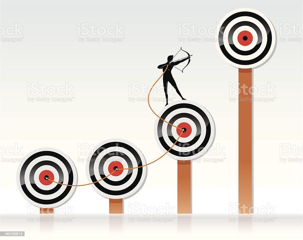 Higher Target royalty-free stock vector art