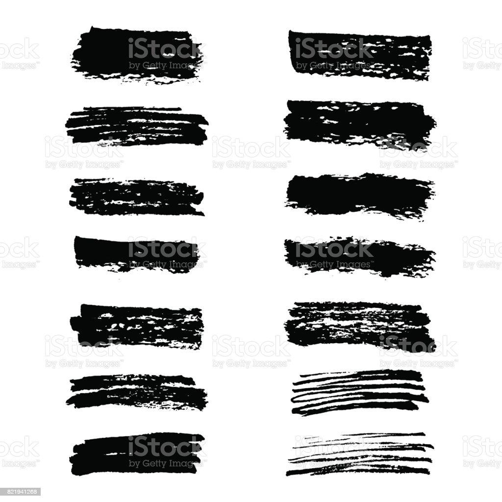 Highlighter brush lines. vector art illustration