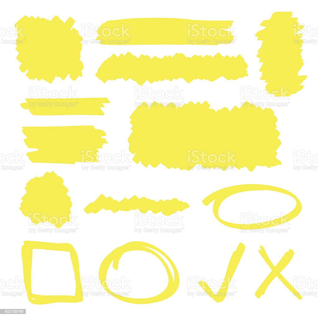 Highlighter Elements vector art illustration