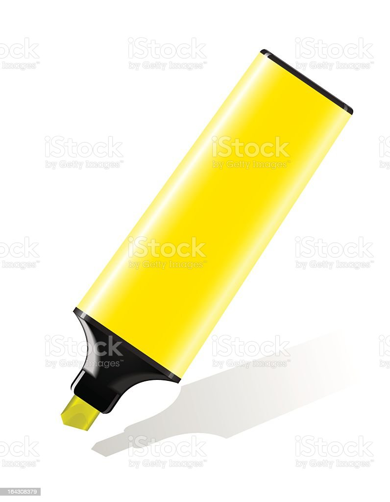 Highlighter yellow royalty-free stock vector art