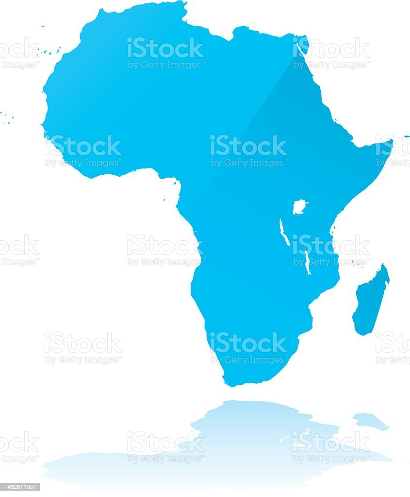 highly detailed Africa map royalty-free stock vector art