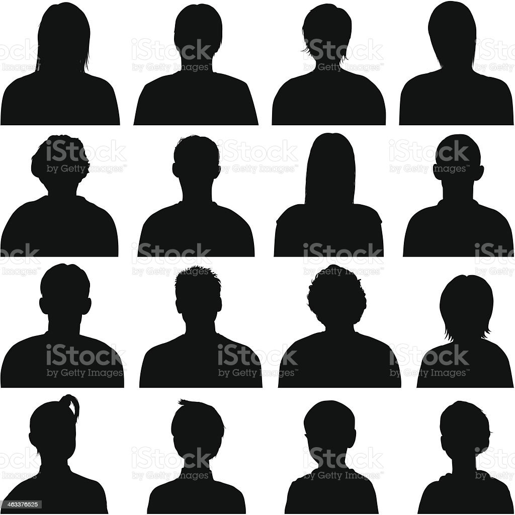 Highly Detailed Anonymous People vector art illustration