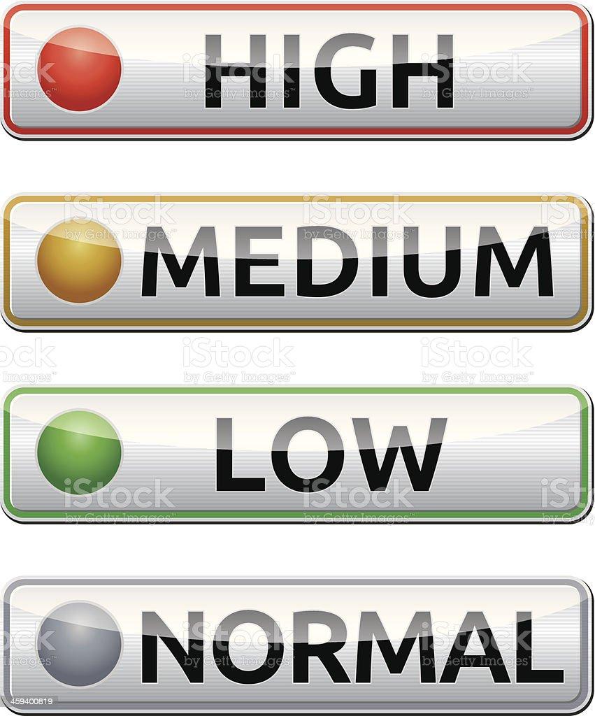 high-medium-low-normal-boards royalty-free stock vector art