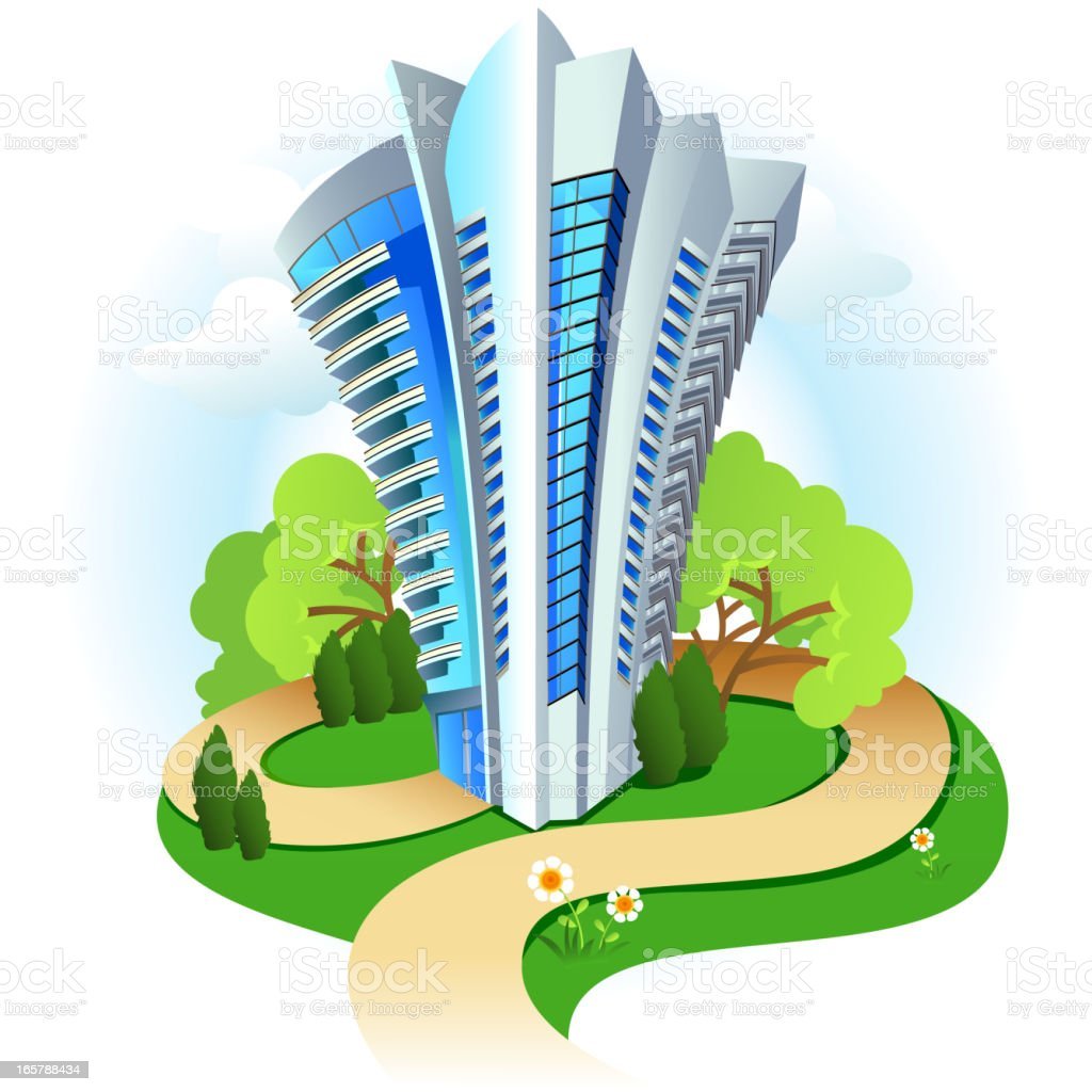 Highrise Building royalty-free stock vector art