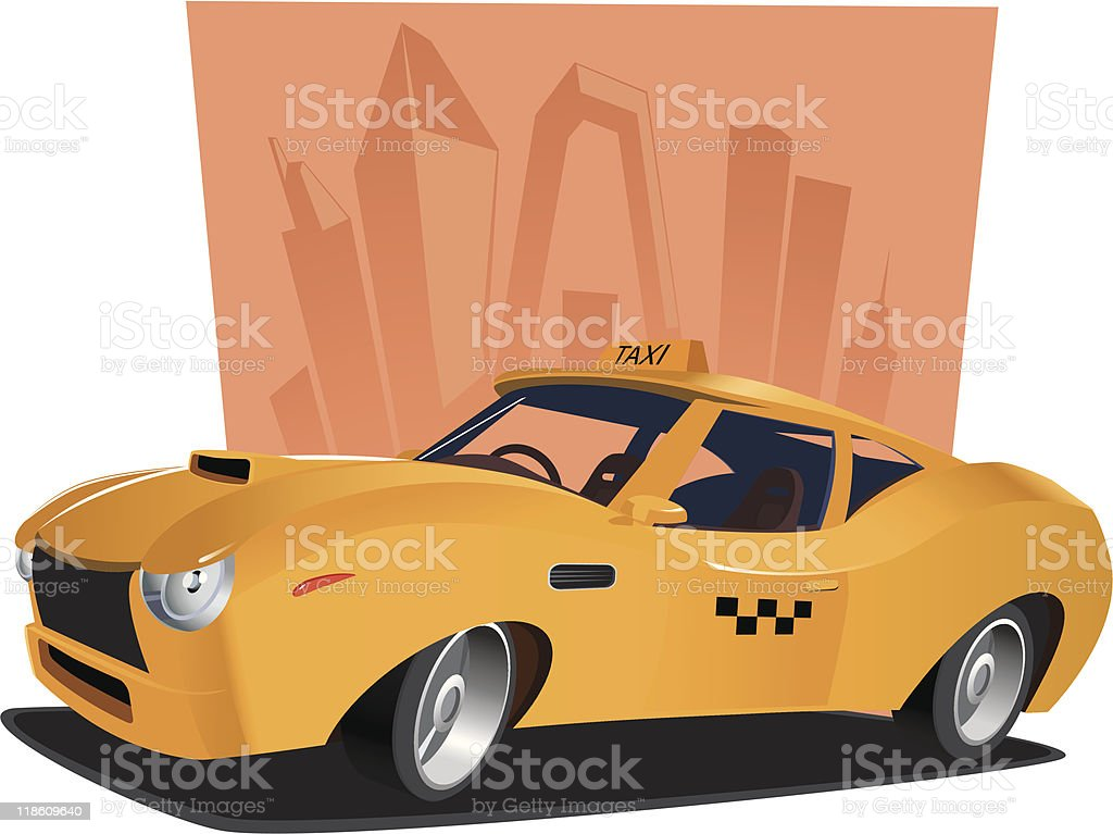 High-speed city taxi royalty-free stock vector art