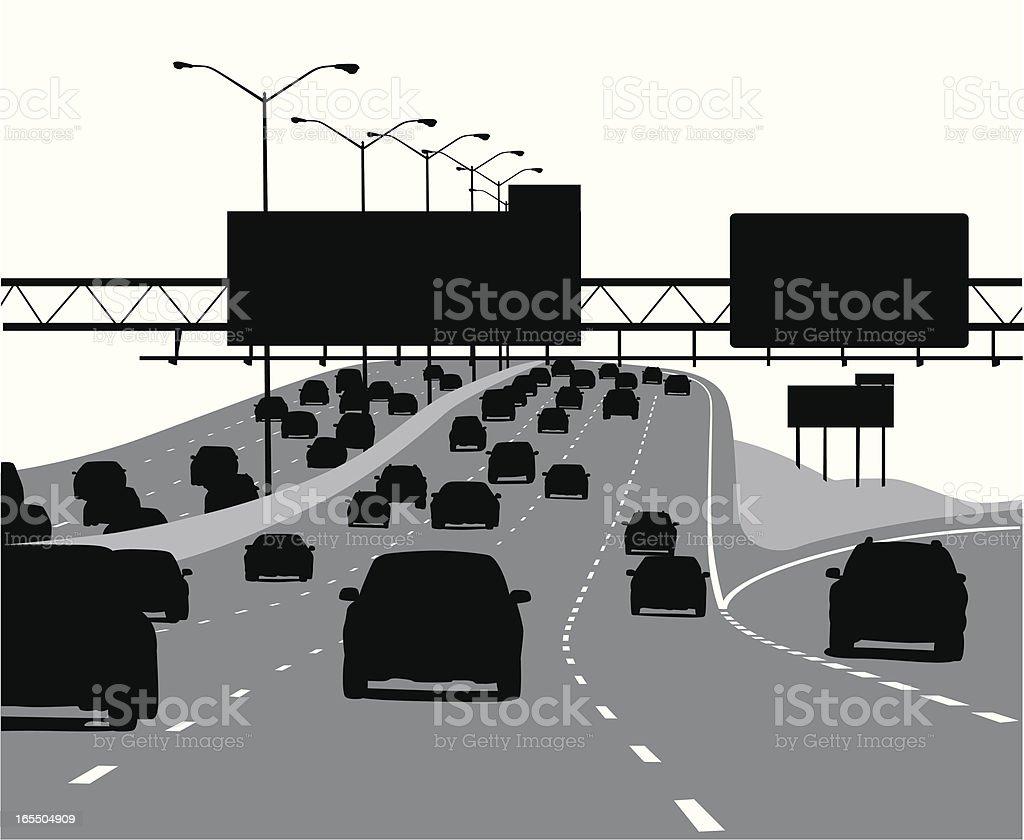 Highway Exit Vector Silhouette vector art illustration