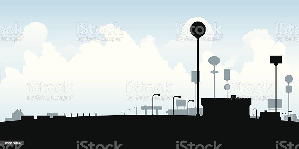 Highway Pitstop royalty-free stock vector art