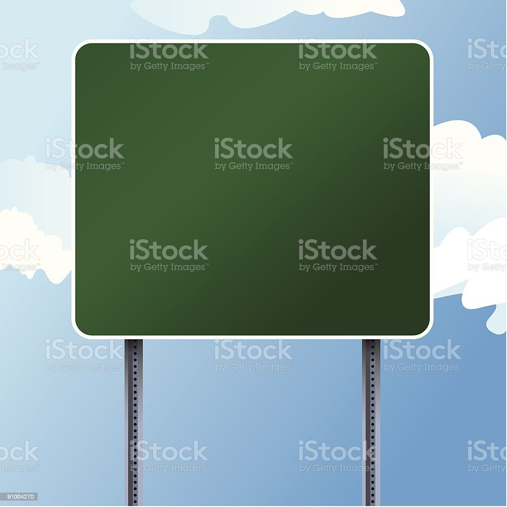 Highway Sign royalty-free stock vector art