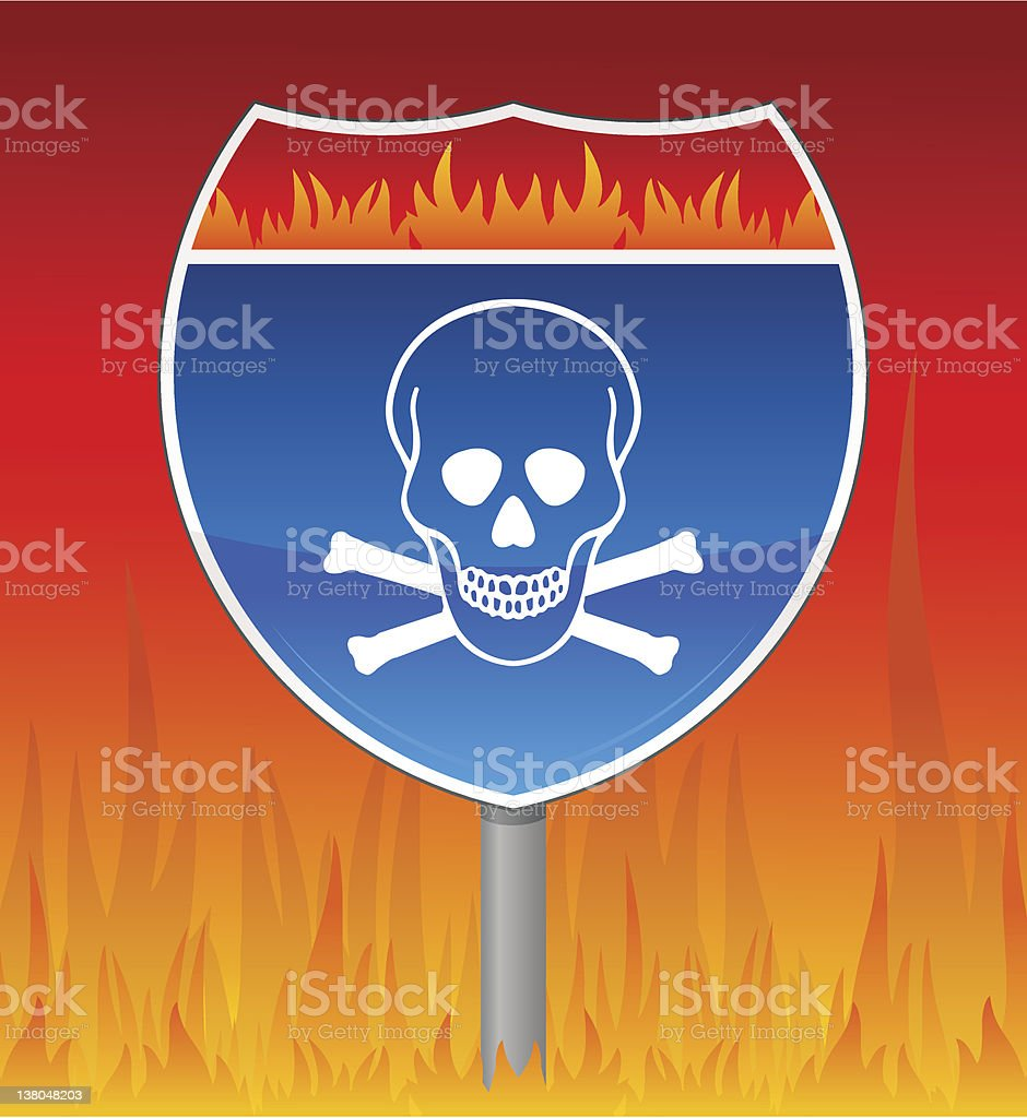 highway to hell royalty-free stock vector art