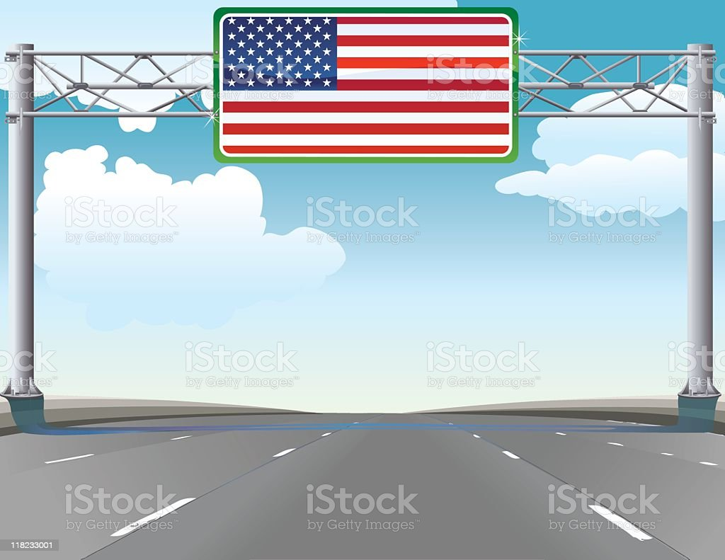 Highway to the United States royalty-free stock vector art