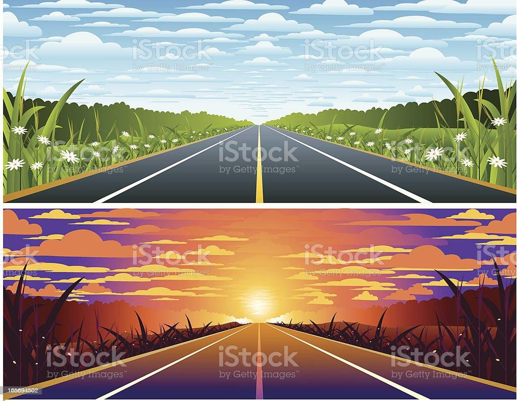 Highway.. royalty-free stock vector art