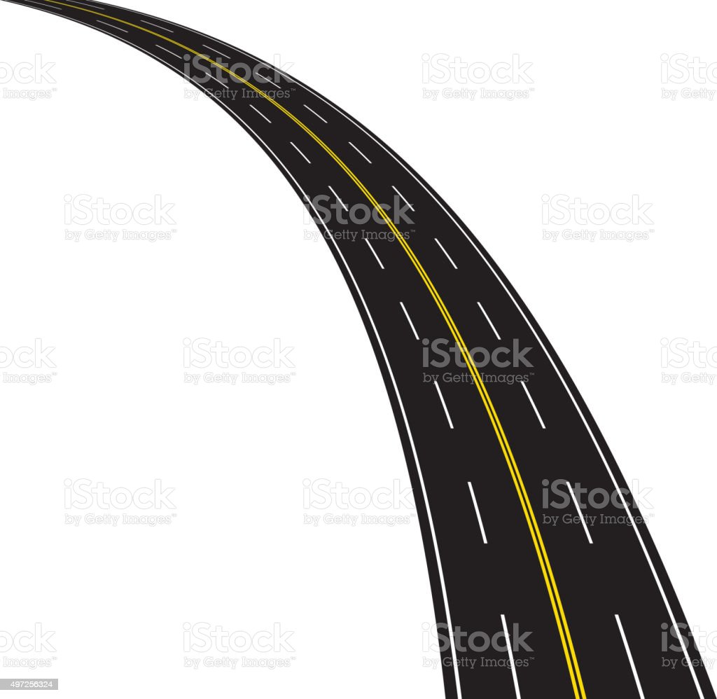 Highway vector art illustration