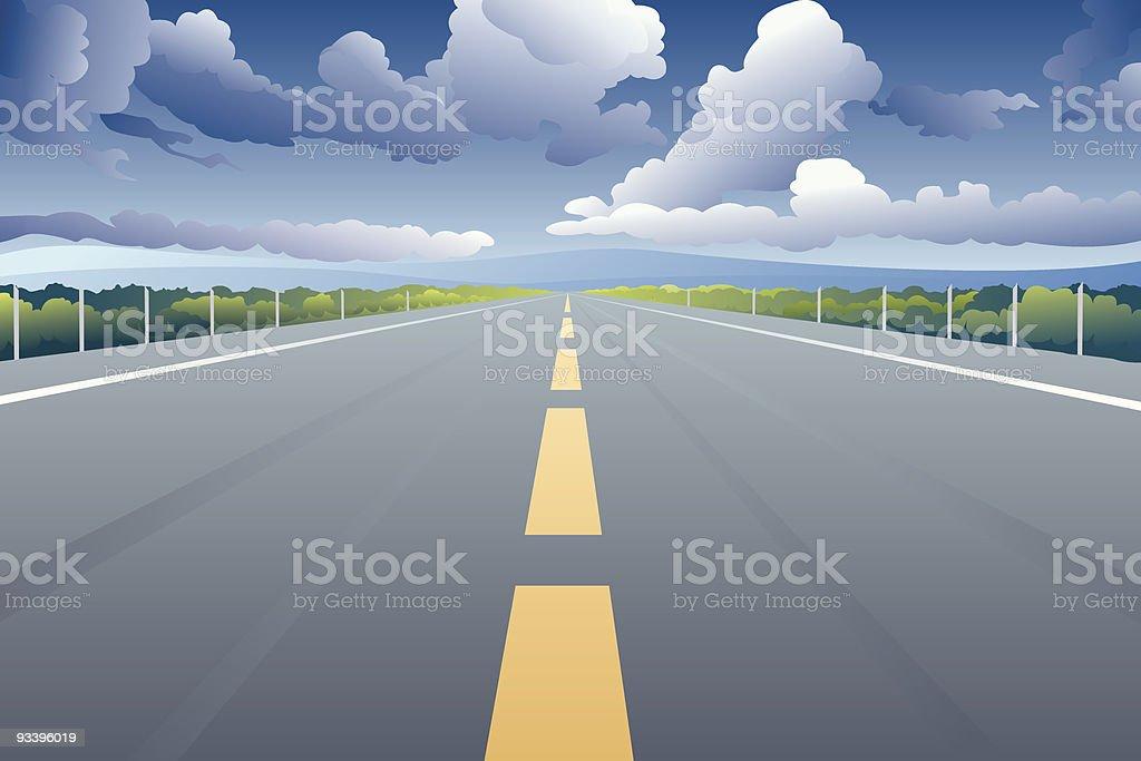 Highway royalty-free stock vector art