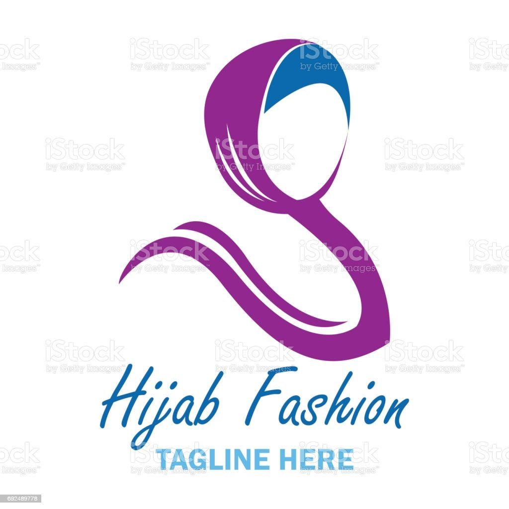 hijab icon with text space for your slogan tag line vector