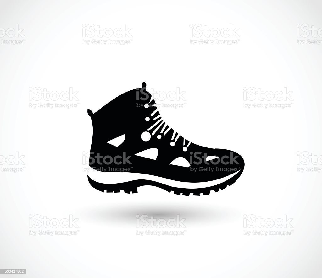 Hike shoe icon vector illustration vector art illustration