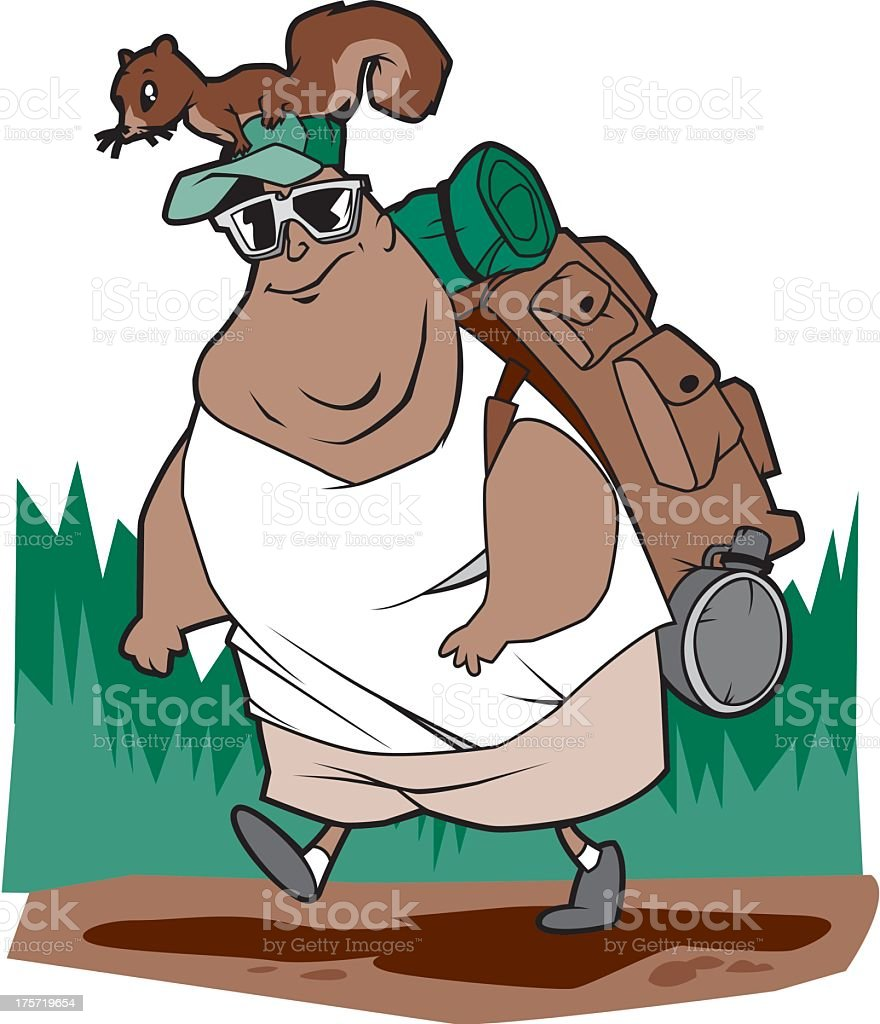 Hiker royalty-free stock vector art