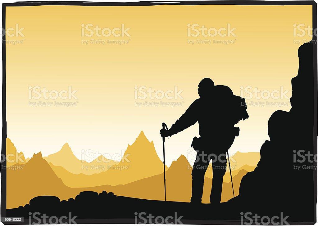 hiker royalty-free stock vector art