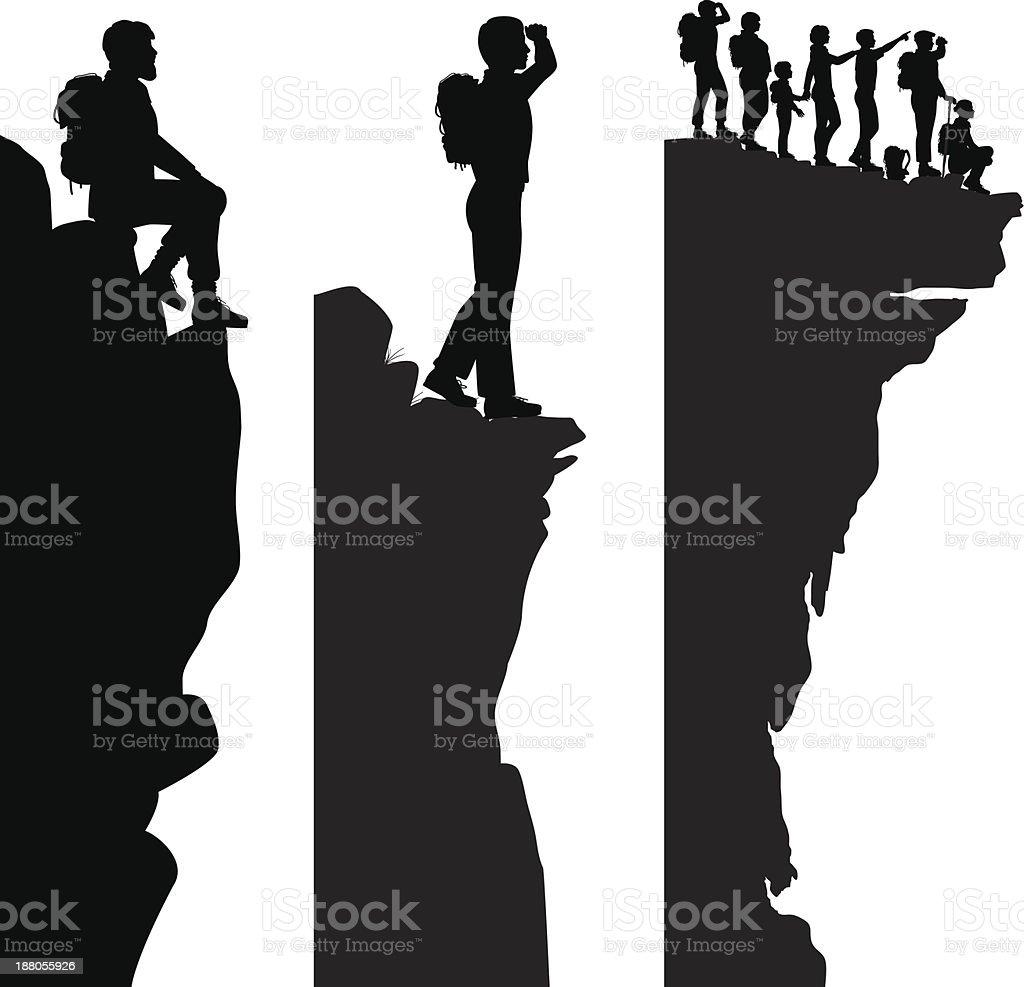 Hiker viewpoints vector art illustration