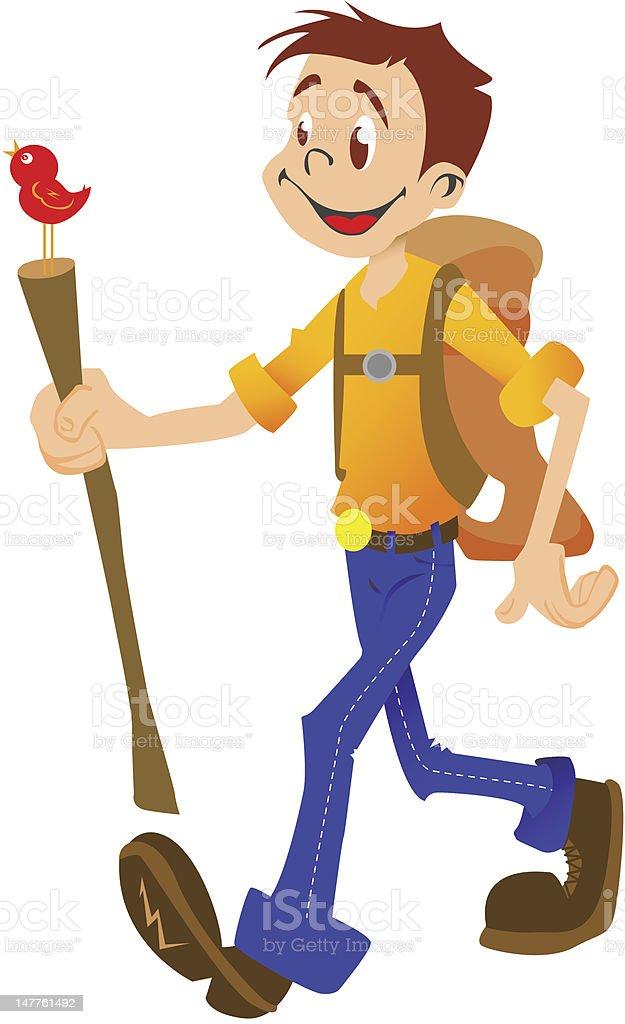 hiking boy isolated royalty-free stock photo