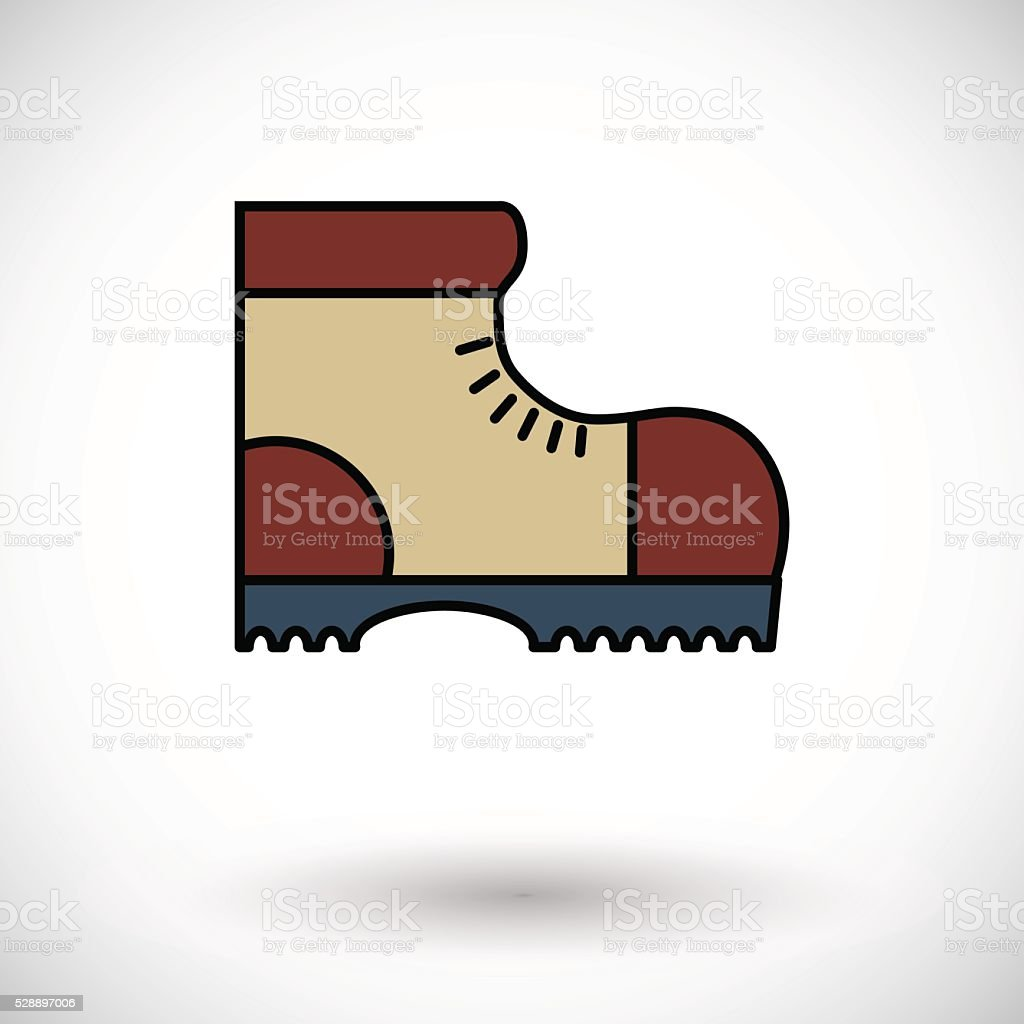 Hiking shoes vector art illustration