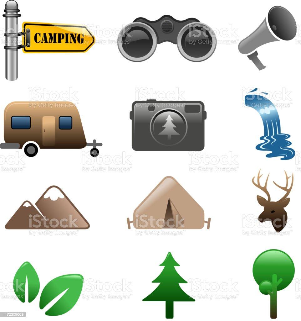 hiking symbols royalty-free stock vector art