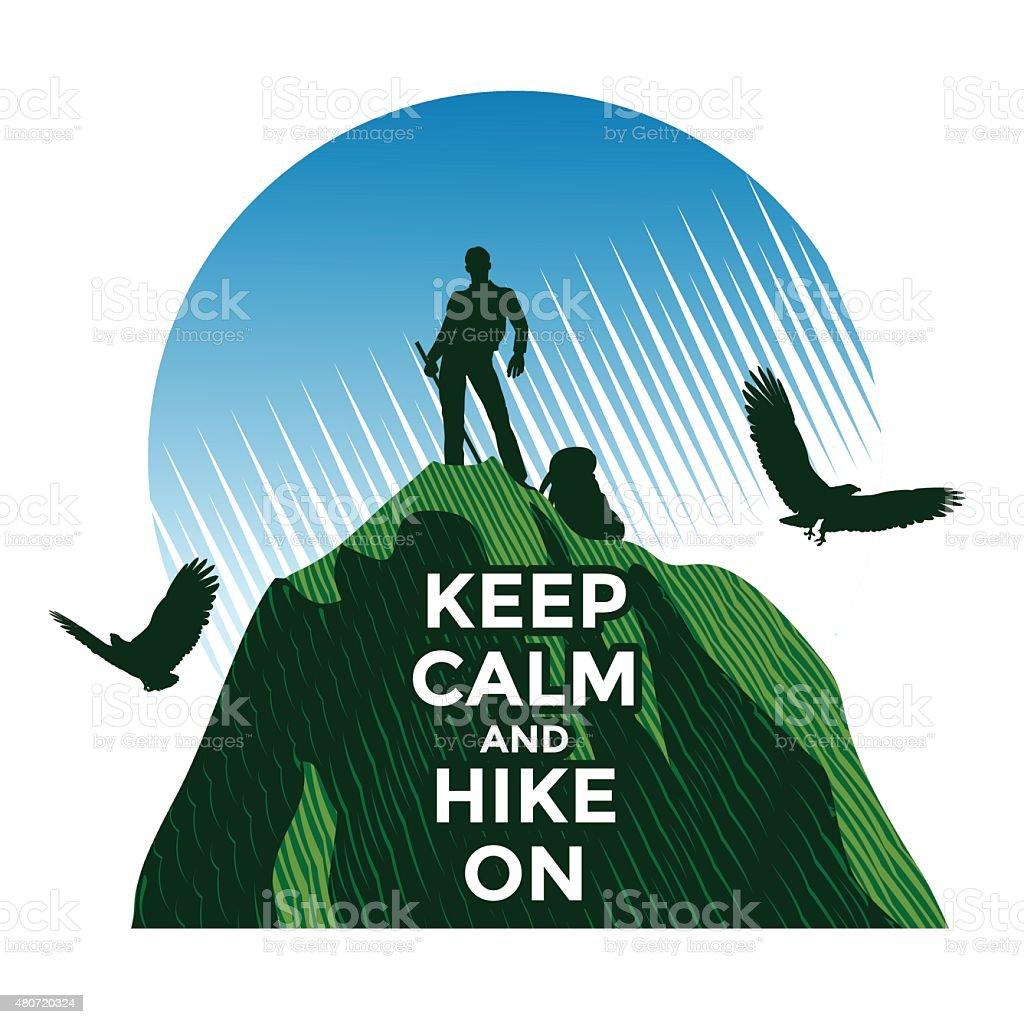 Hiking vector art illustration