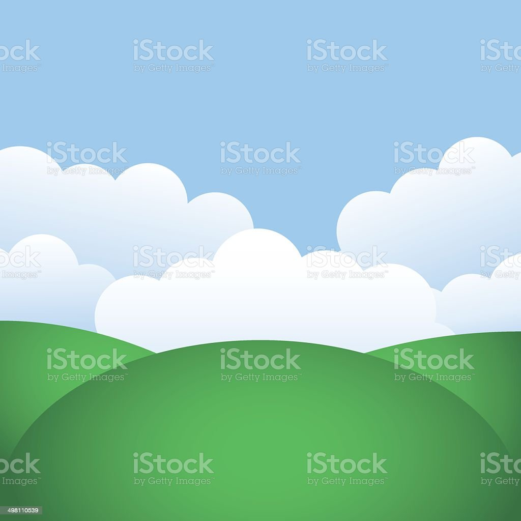 hills and blue sky royalty-free stock vector art