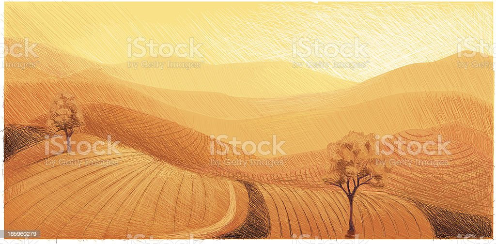 Hills Panorama royalty-free stock vector art