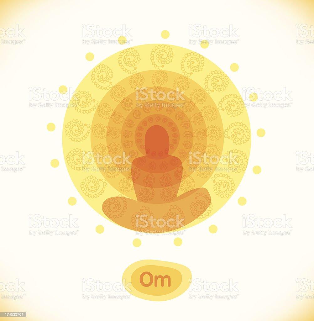 Hinduism symbol. Yoga illustration vector art illustration