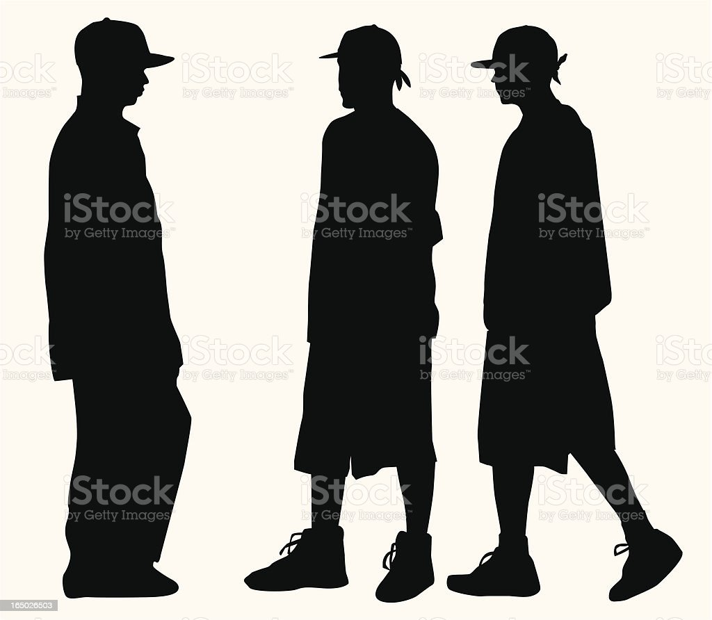 Hip Hop Fashion Teens ( Vector ) vector art illustration