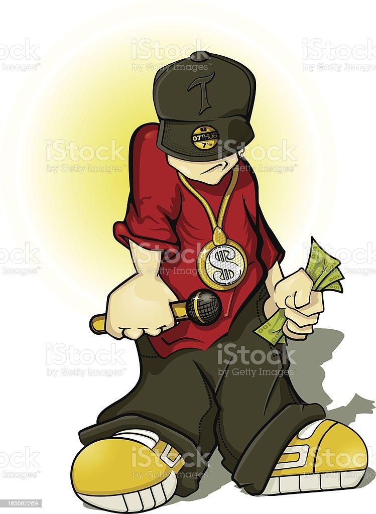 Hip Hop Thug vector art illustration
