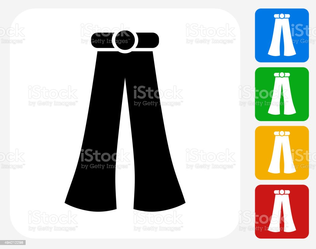 Hippie Pants Icon Flat Graphic Design vector art illustration