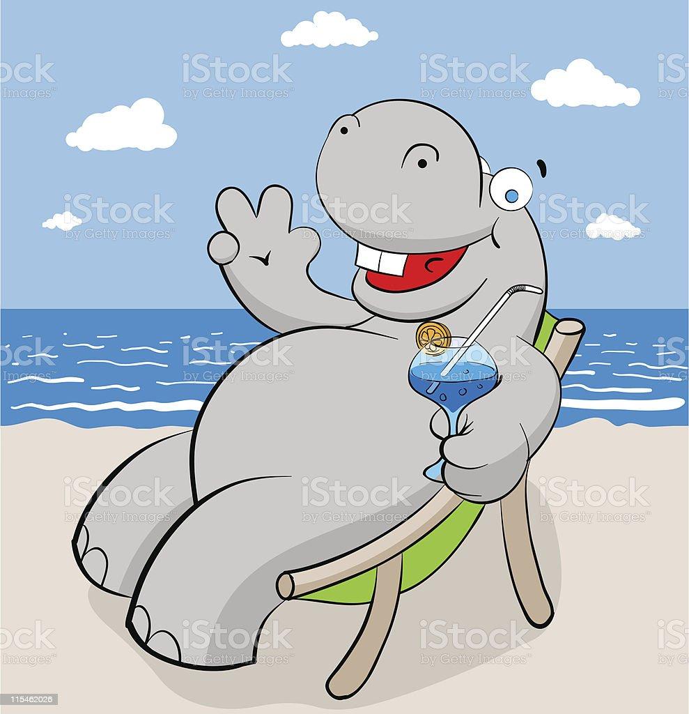 hippo royalty-free stock vector art