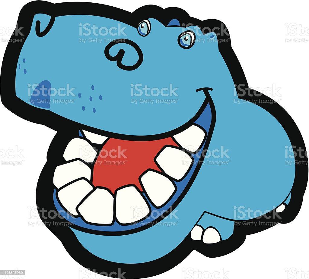 hippopotamus cartoon royalty-free stock vector art