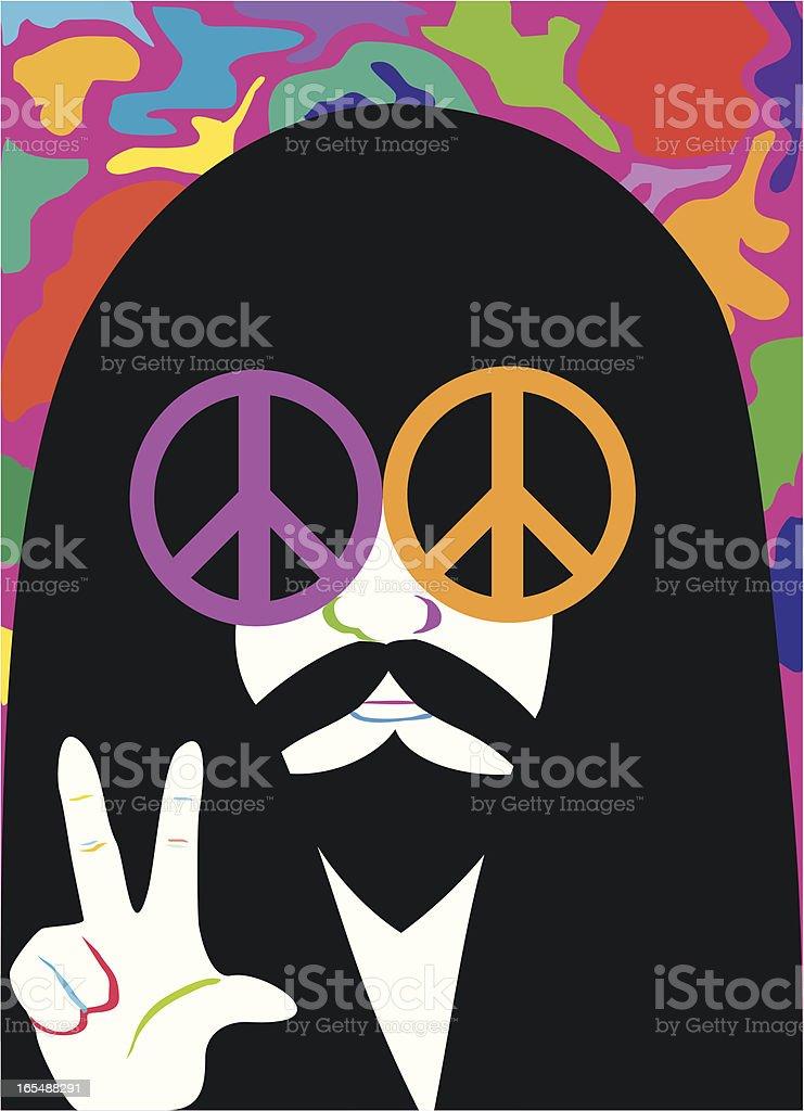 Hippy Man vector art illustration