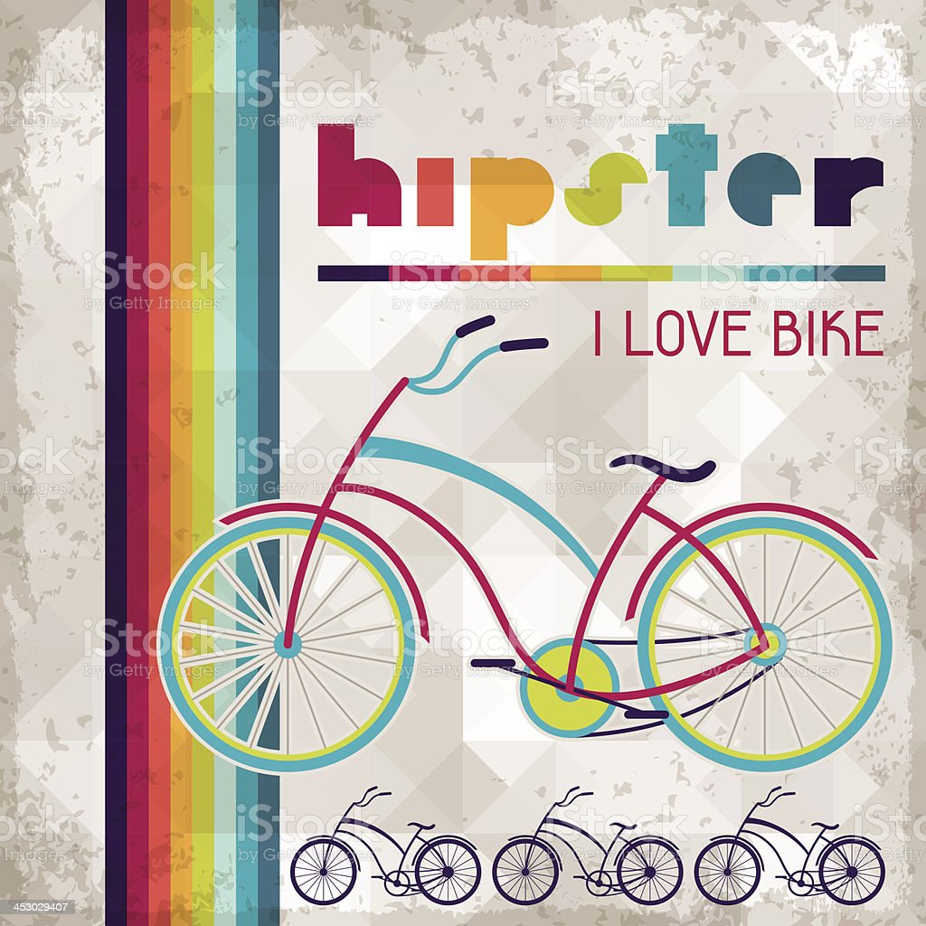 Hipster background in retro style. royalty-free stock vector art