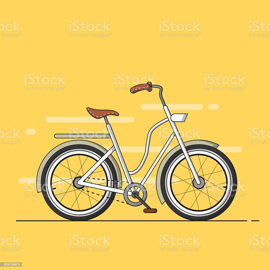 Hipster bicycle vector art illustration