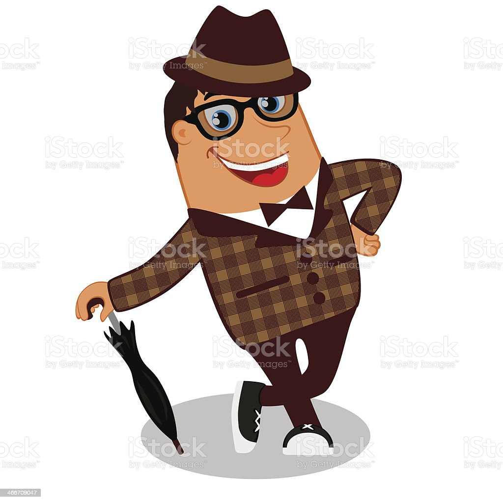 Hipster character. Vector royalty-free stock vector art