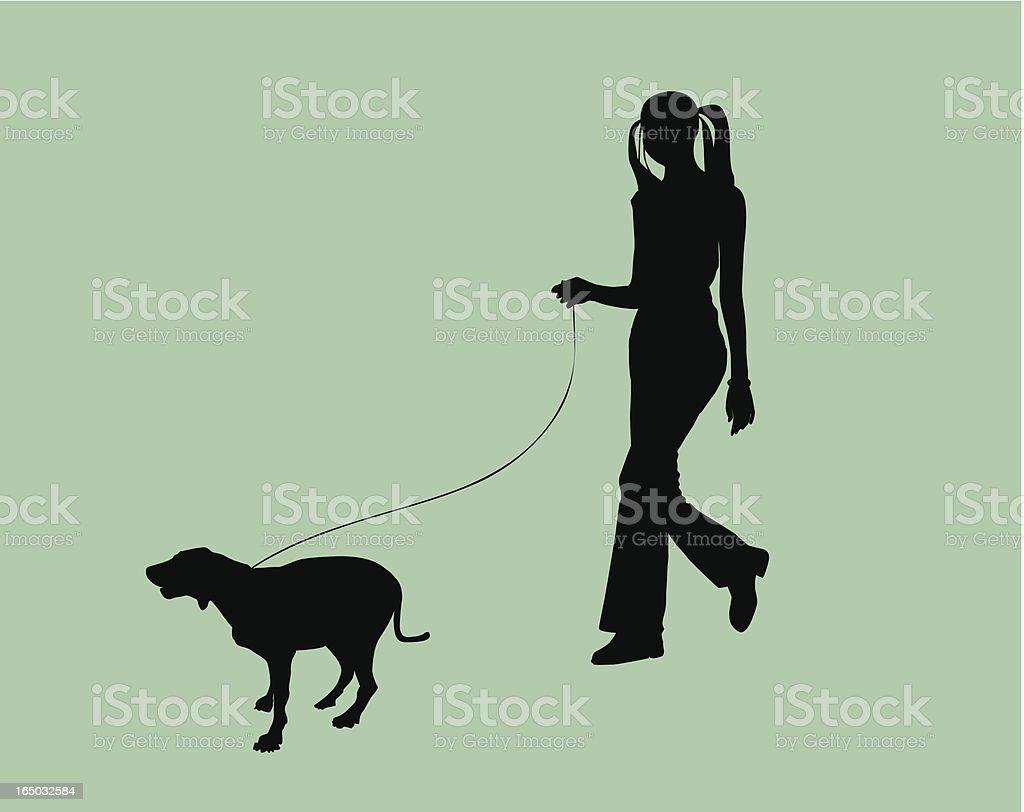 Hipster & Dog  (VECTOR) royalty-free stock vector art