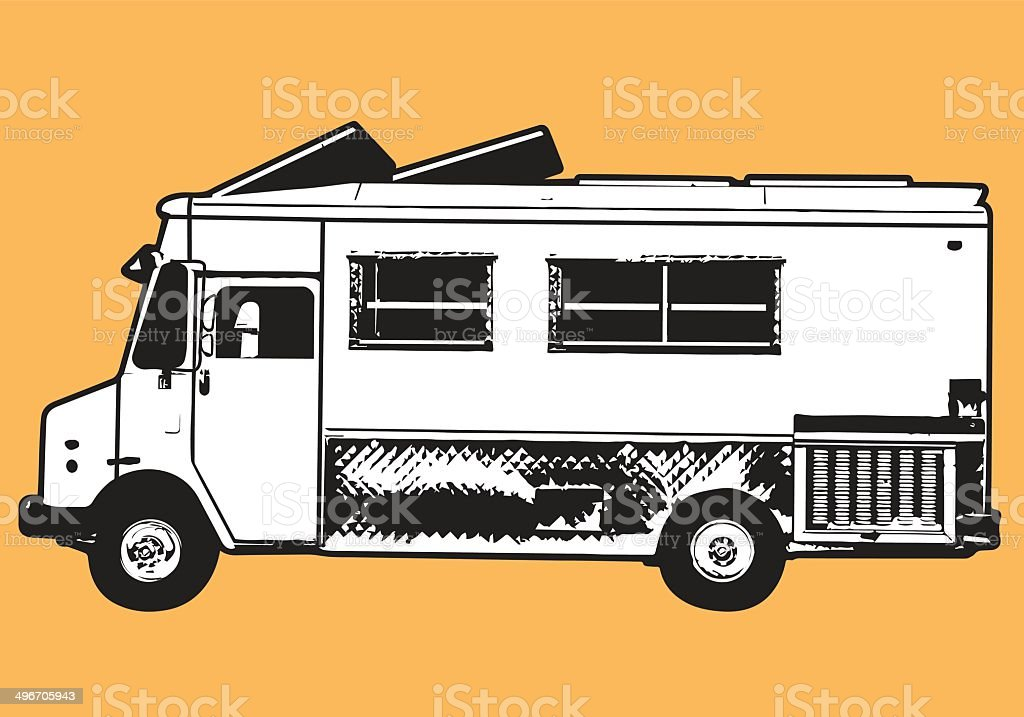 Hipster Food Truck royalty-free stock vector art