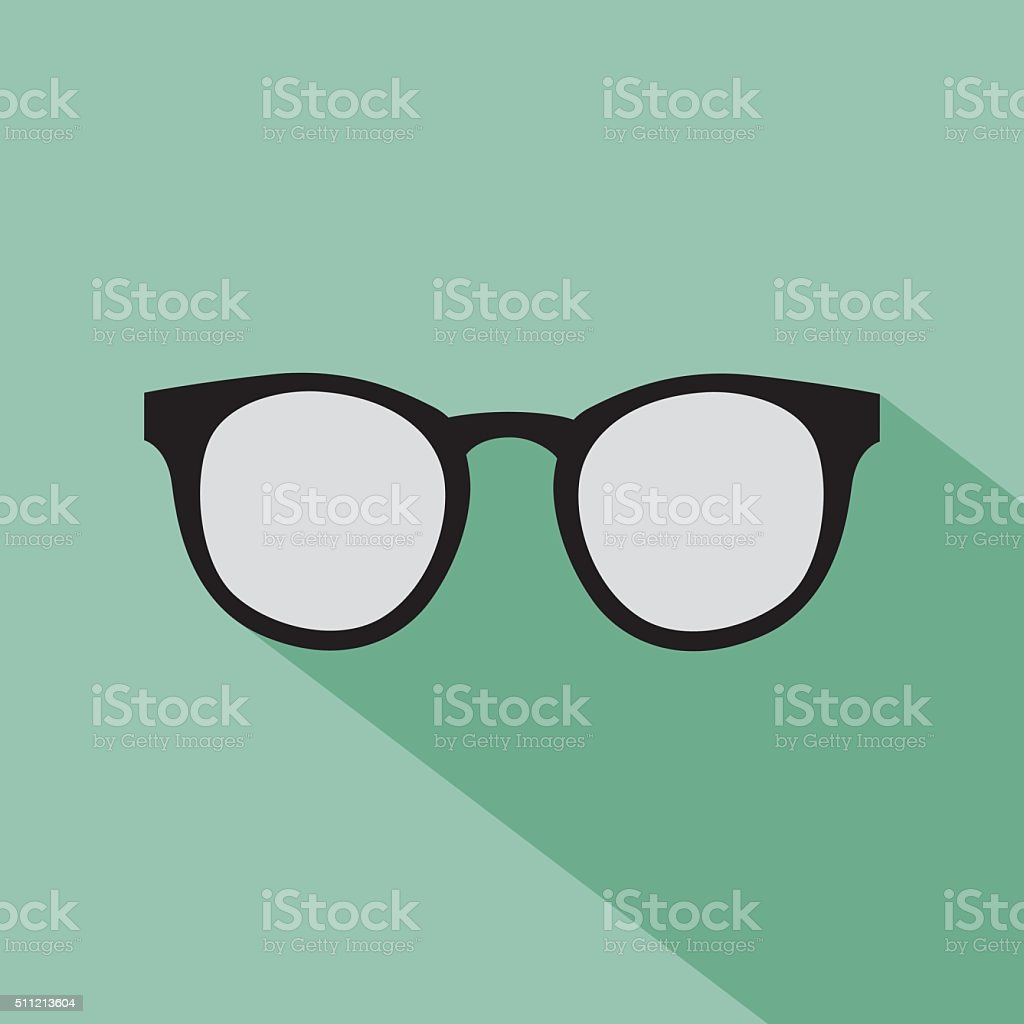 Hipster Glasses Icon vector art illustration