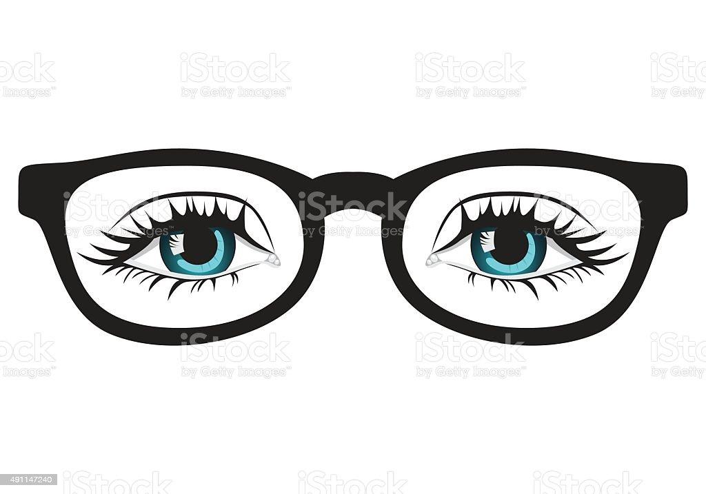 Hipster Glasses vector art illustration