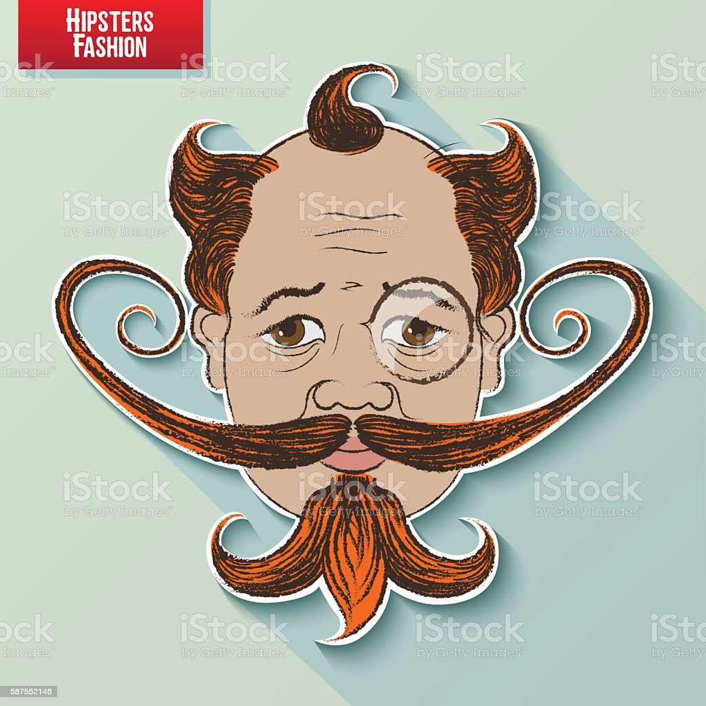 Hipster Icon #01 vector art illustration