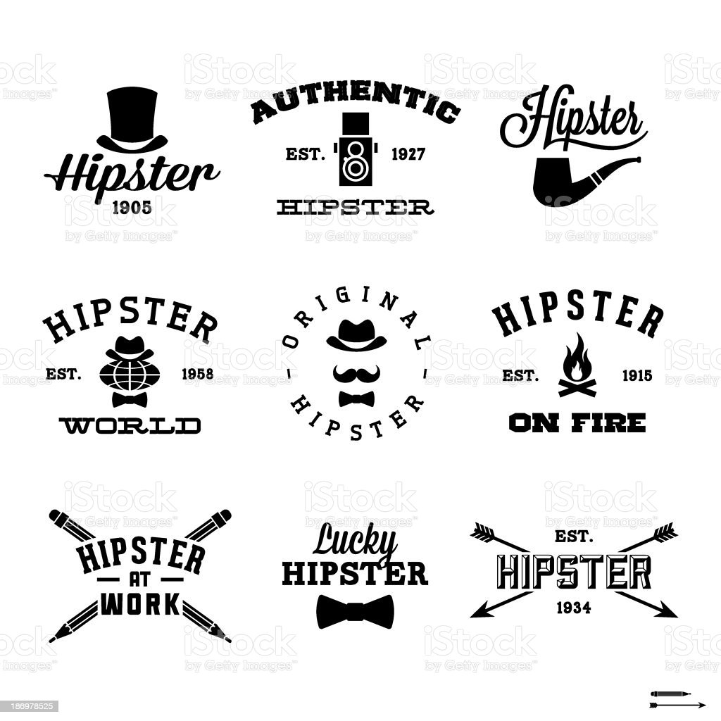 hipster labels royalty-free stock vector art