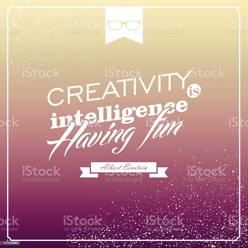 Hipster lifestyle poster with text royalty-free stock vector art