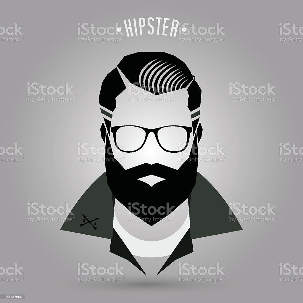 Hipster men style 02 vector art illustration