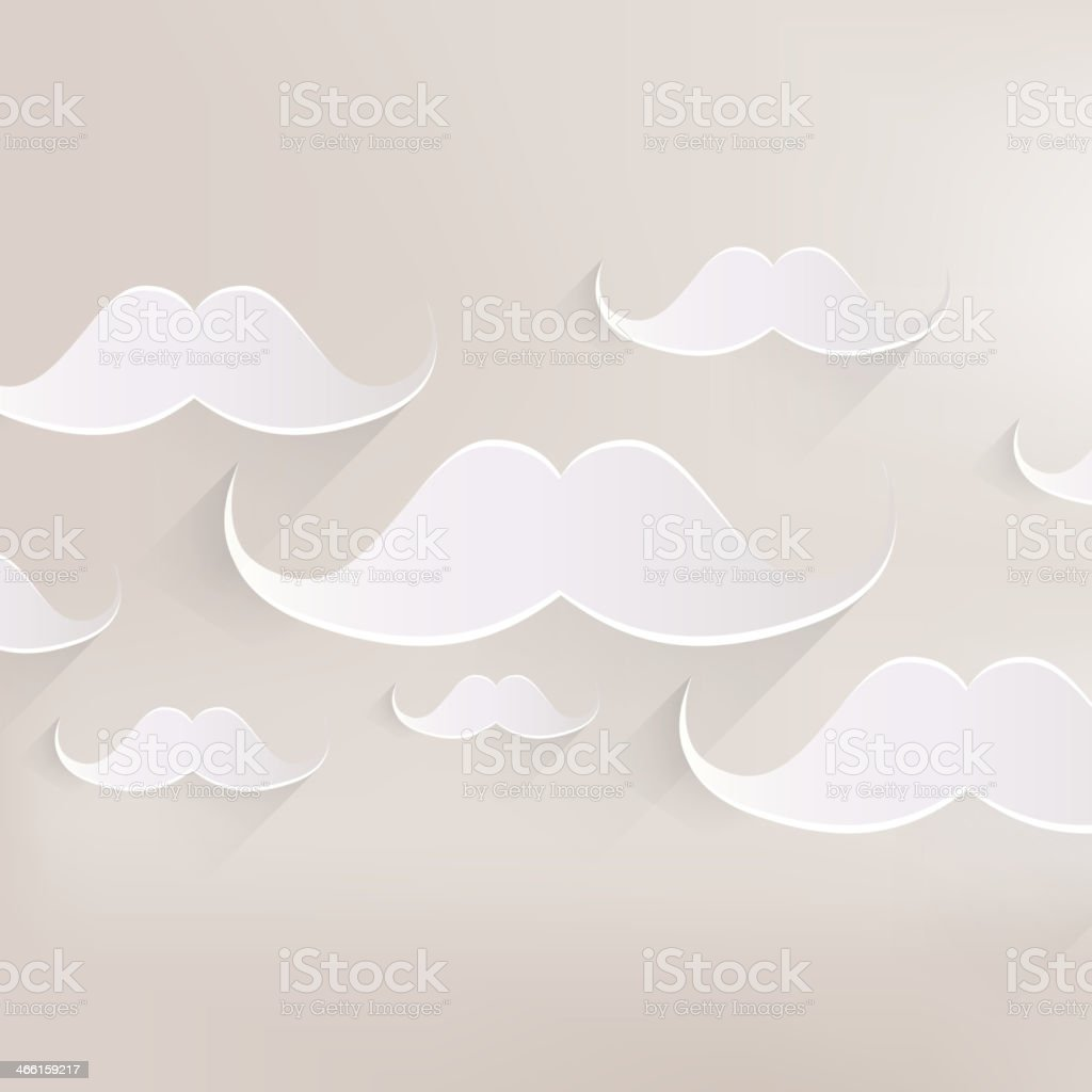 Hipster moustaches icon royalty-free stock vector art