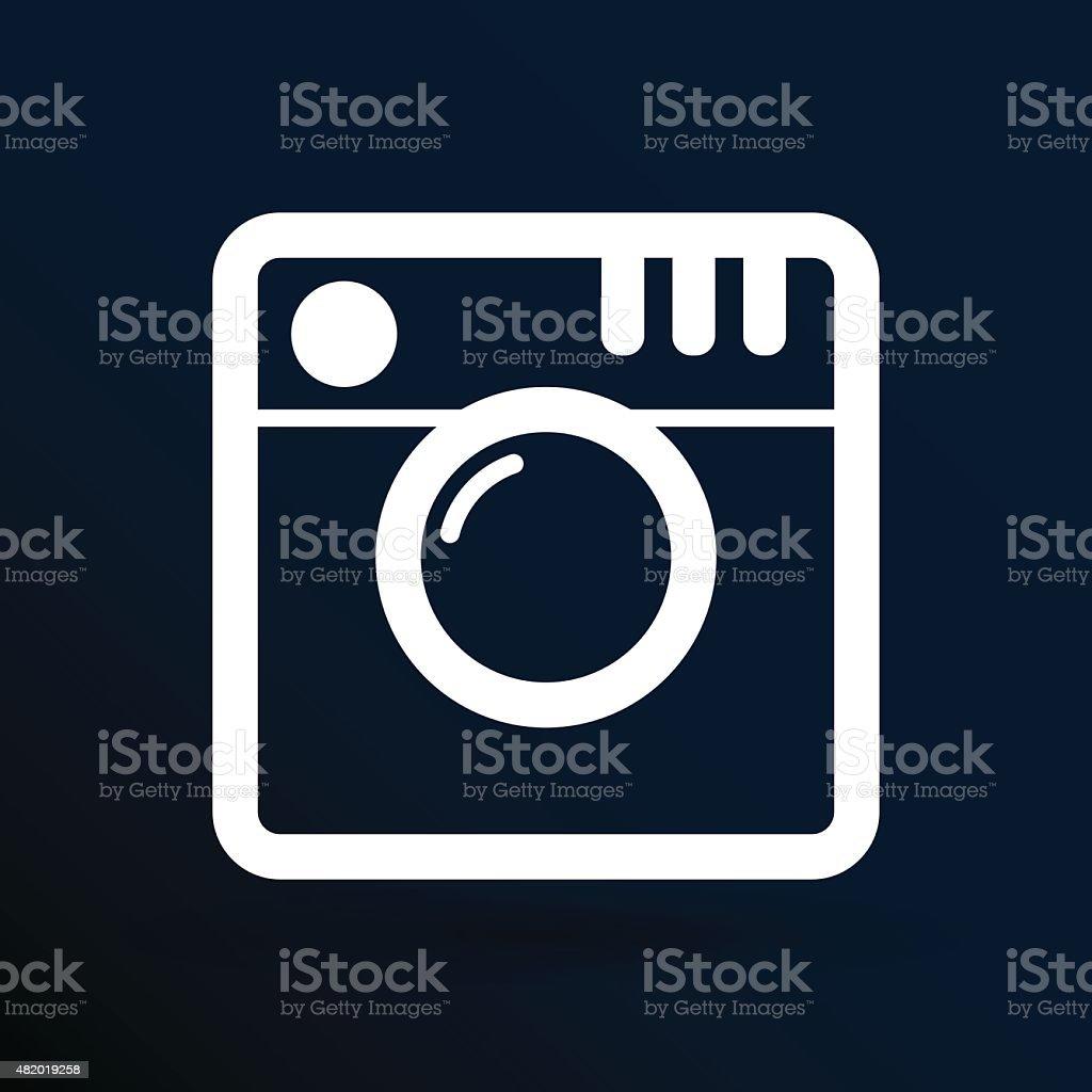 Hipster photo Camera icon Photo camera pictogram vector art illustration