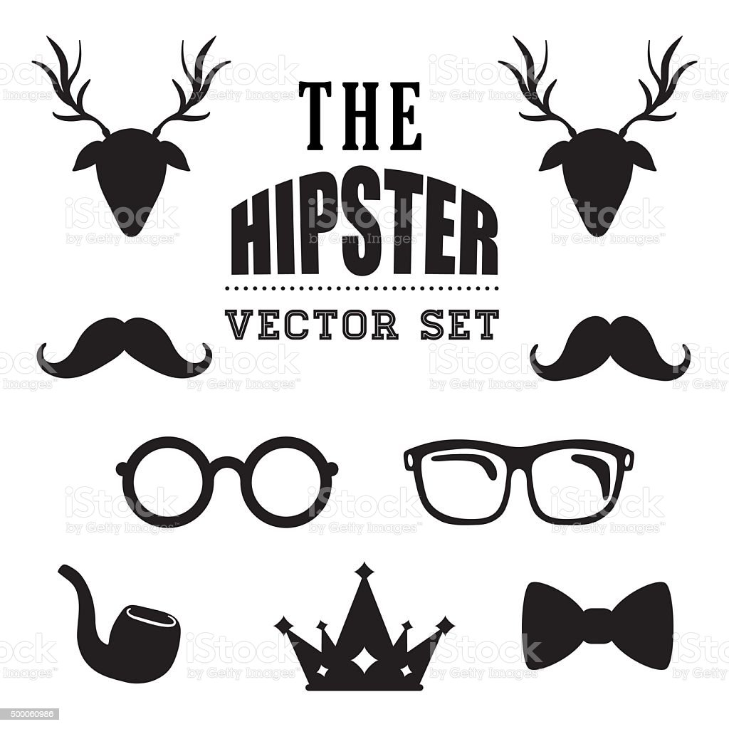 Hipster retro and vintage vector art illustration
