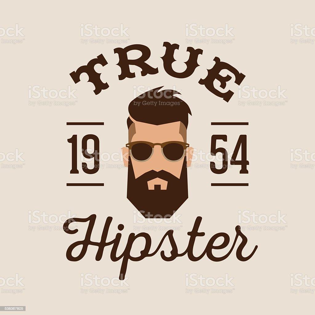 hipster retro badge vector art illustration